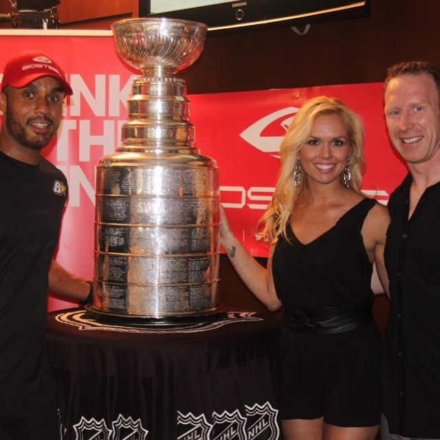 My first pic...what the kids call a #TBT.. Proud moment with some of my favourite people! #stanleycup #razor